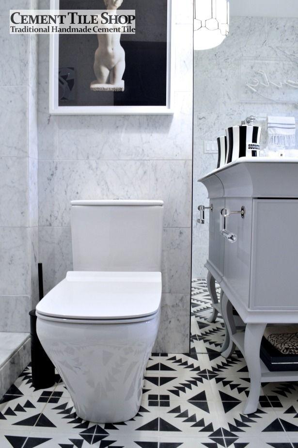 bathroom floor  Cement Tile Shop Blog