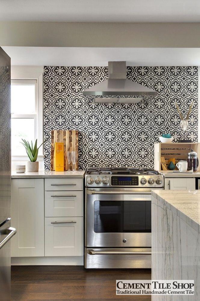 cement tile kitchen remodels before and after photos bordeaux pattern shop blog