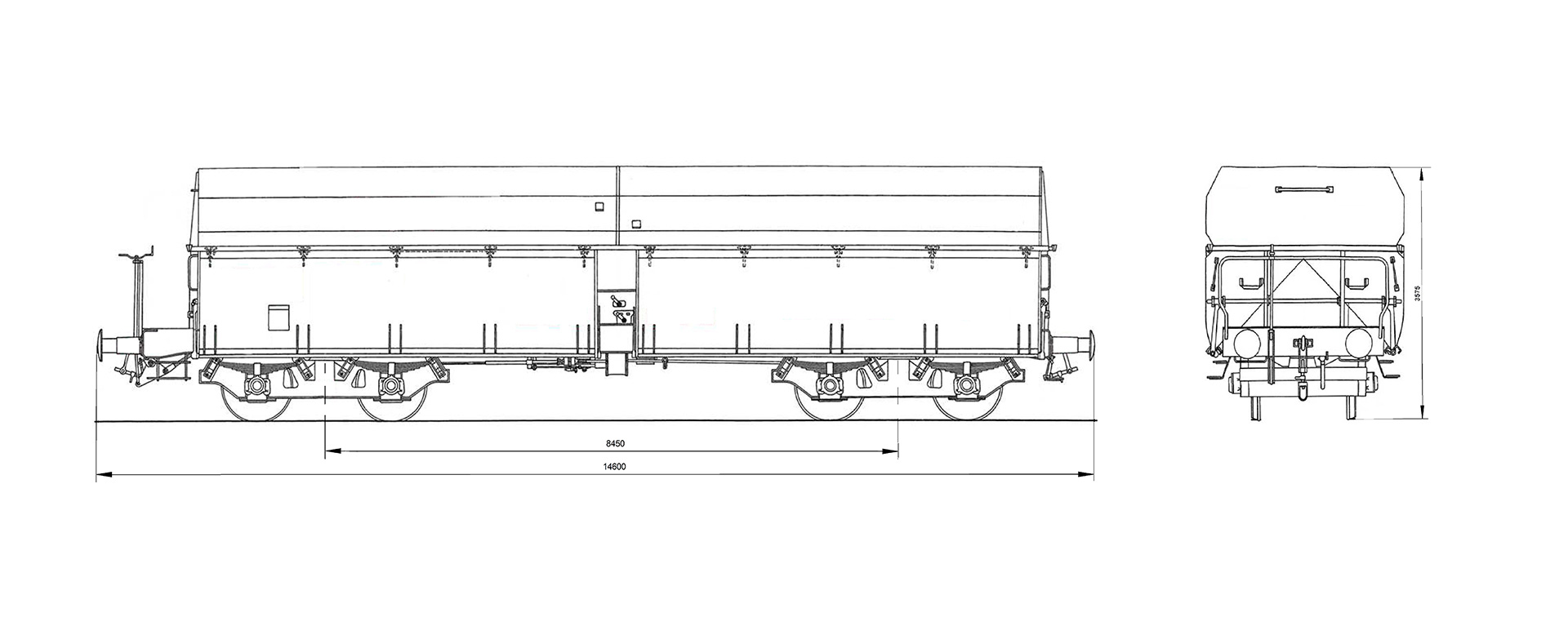 hight resolution of the railcar can be unloaded from each side individually or from both sides at once by manipulating the unloading mechanism
