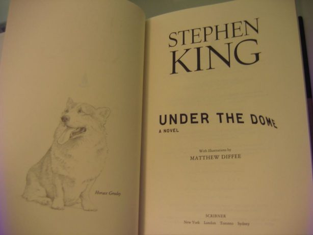 The title page and the first exclusive drawing
