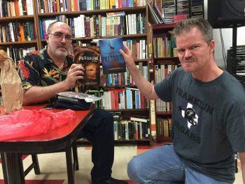 Brian Keene and Jeff Strand---PRESSURE WAR! (Photo Copyright 2016 Brian Keene)