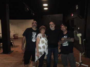 Brian with some of the attendees in Morgantown. (Photo Copyright 2016 Paul Synuria)