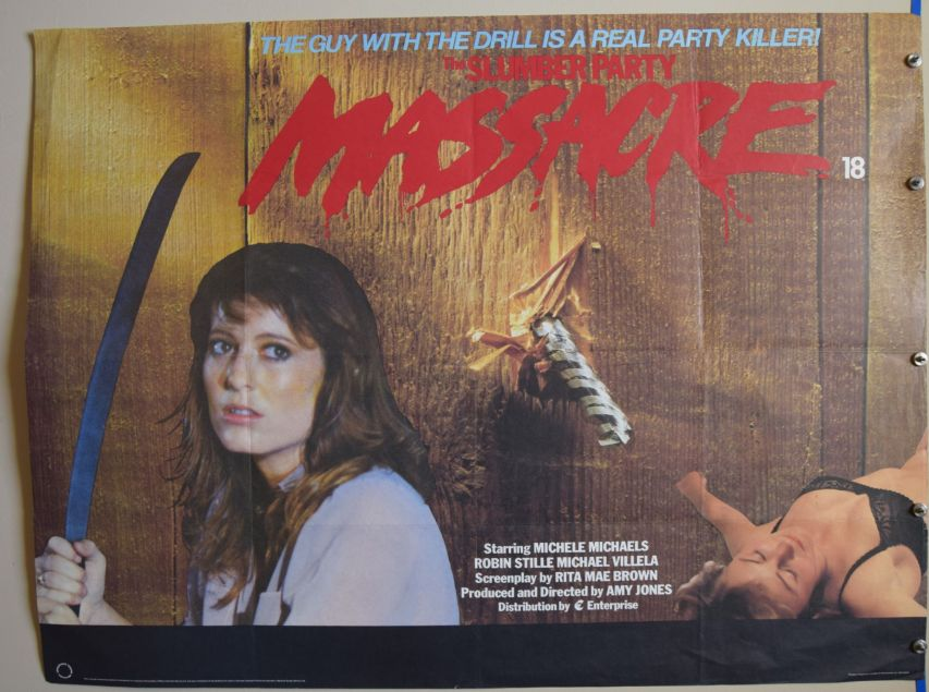UK poster for 1982 film The Slumber Party Massacre