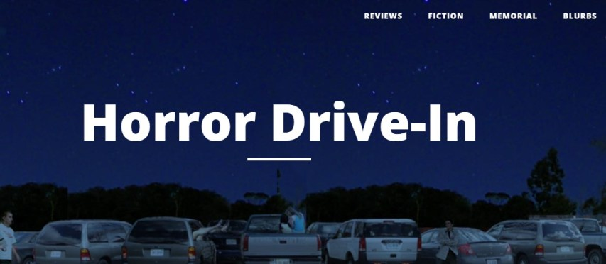 screen shot of the Horror Drive-In website