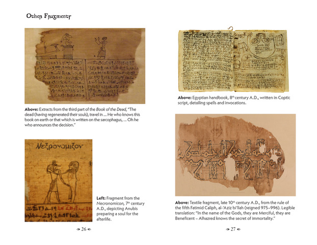 pages from the NECRONOMICON