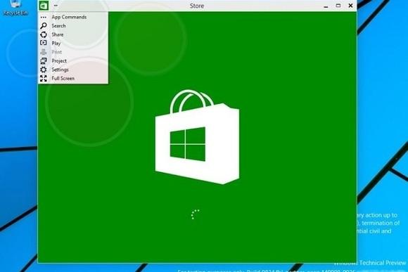 Windows 9 Masaüstüne Metro Uygulaması