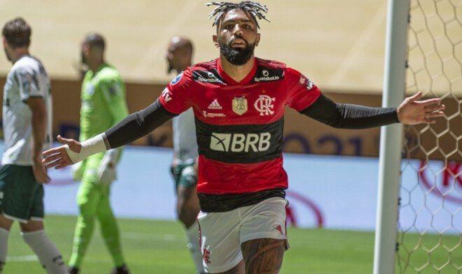 Flamengo sobre o Palmeiras