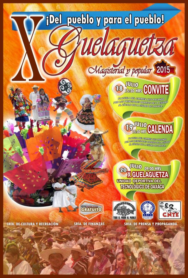 Cartel Guelaguetza 2015