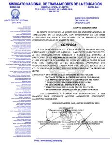 Convocatoria para la Megamarcha el 14 de agosto de 2015