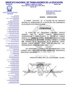 Convocatoria para la Asamblea Estatal el 27 de septiembre de 2015
