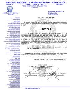 Convocatoria para la Ronda de Asambleas Sectoriales con Autoridades Municipales y Padres de Familia del 20 al 23 de septiembre de 2015