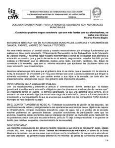 Documento orientador para la ronda de asambleas con Autoridades Municipales septiembre 2015(1:6)