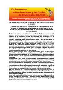 10 encuentro LatinoAmericano y del Caribe, noviembre 2015(1)Esp