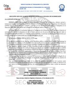 Boletín - Ante la llegada de Silvia Schmelkes - 07 diciembre 2015