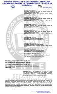 CARTA EN EXIGENCIA DE JUSTICIA PARA LOS PROFESORES PRESOS DE LA  CNTE(1:3)