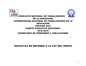 Iniciativa de Reforma a la Ley del ISSSTE - Cuadro comparativo