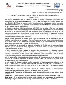 Documento orientador para la ronda de asambleas delegacionales, marzo de 2016(1:7)
