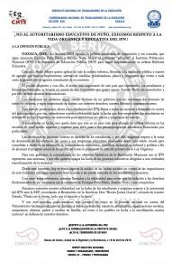Boletín - No al autoritarismo educativo de Nuño -  16 de abril de 2016