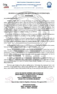 Boletín - Regreso a clases no es decisión de grupos ni personajes es de bases - 26 agosto 2016