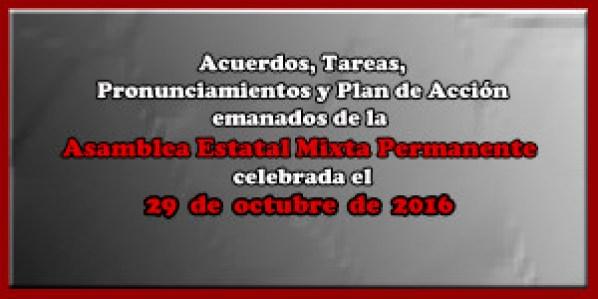 ACUERDOS Asamblea Mixta 29 octubre 2016