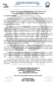 Boletín - A  100 AÑOS DE LA CONSTITUCIÓN - 6 febrero 2017