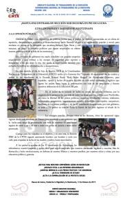 Boletín - HASTA ENCONTRARLOS, SECCIÓN XXII SEGUIRÁ EN PIE DE LUCHA CON LOS PADRES Y MADRES DE AYOTZINAPA - 12 febrero 2017