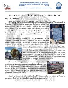 Boletín - JUSTICIA NOCHIXTLÁN A 8 MESES NI PERDÓN NI OLVIDO  - 19 febrero 2017(1:2)