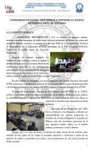 Boletín - CONGRESO ESTATAL CON MIRAS A DEFINIR LA NUEVA OFENSIVA ANTE EL ESTADO - 19 marzo 2017(1:2)