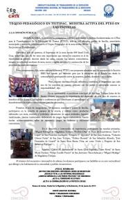 Boletín - TEQUIO PEDAGÓGICO EN TEITIPAC  - 24 marzo 2017
