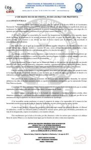 Boletín - 1 DE MAYO - 01 mayo 2017