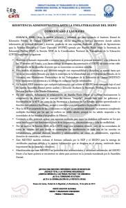 Boletín - COMUNICADO A LAS BASES - 19 JULIO 2017
