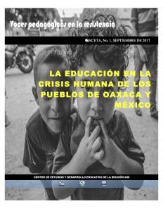 La Educación en la crisis humana septiembre 2017