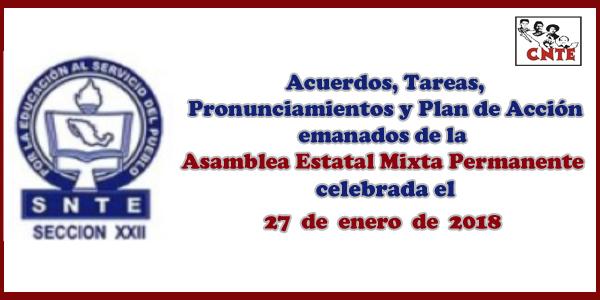 ACUERDOS Asamblea Mixta 27 enero 2018