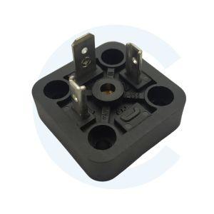 Conector 00005 para válvula electromágnetica cuadrado macho 3 Pin - Hirschmann - Cenel Europe slu