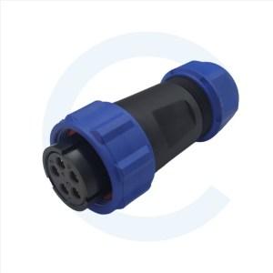 003011625 Conector Circular SP13 5 pines Hembra para cable rosca exterior SP13 - WEIPU SP2111 _ P5 II 1N - Cenel Europe Slu. - Tienda online de repuestos y material electrónico