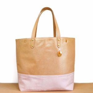 Cénélia | sac rose en cuir Lola