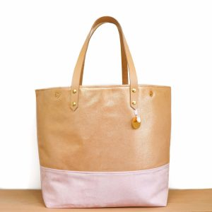 Cénélia |  shopping bag pink leather