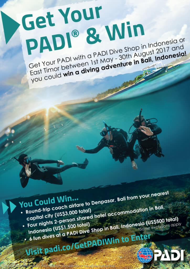 Get Your PADI® & Win - Indonesia and East Timor Contest