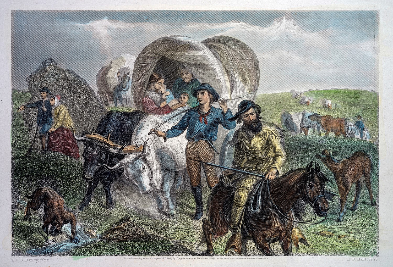 F.O.C. Darley (1822-1888) - Emigrants Crossing the Plains, 1869, color engraving_1440105604779.jpg