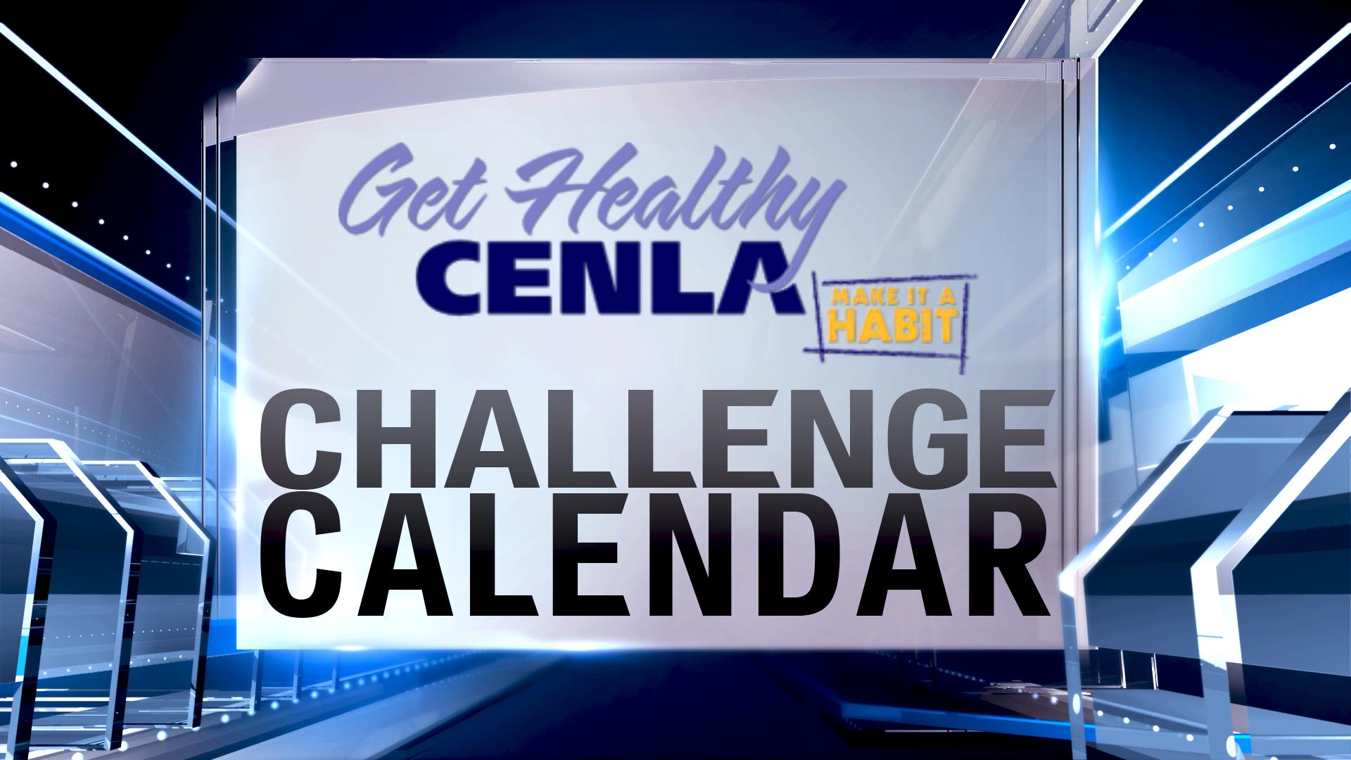 Get Healthy Cenla - Challenge Calendar - Generic Graphic