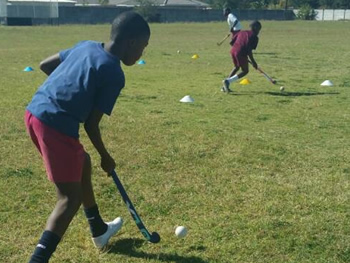 hockey practice at centenary primary school in bulawayo zimbabwe