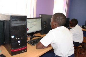 computer lessons at centenary primary school 1