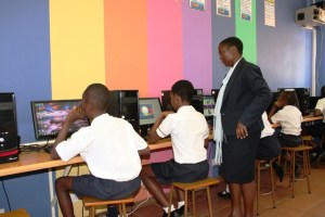 computer lessons at centenary primary school 3