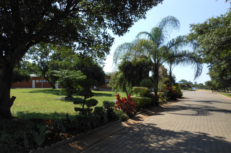 View from exit gate into centenary school premises