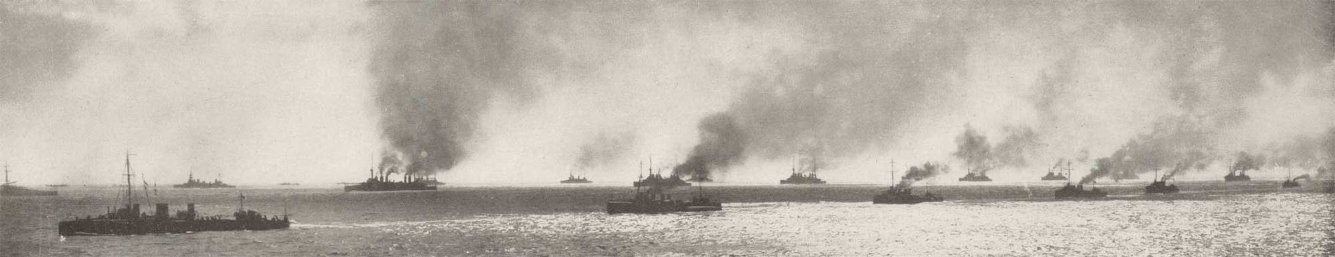 View of the fleet taken by Navy photographer