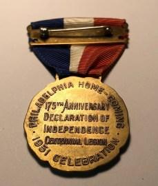 1951 Medal Back
