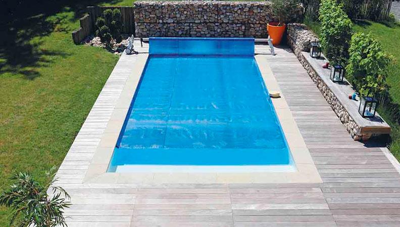 bache piscine ete 8x4