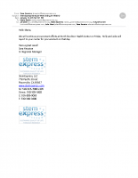 StemExpress Email to Planned Parenthood Clinic Manager