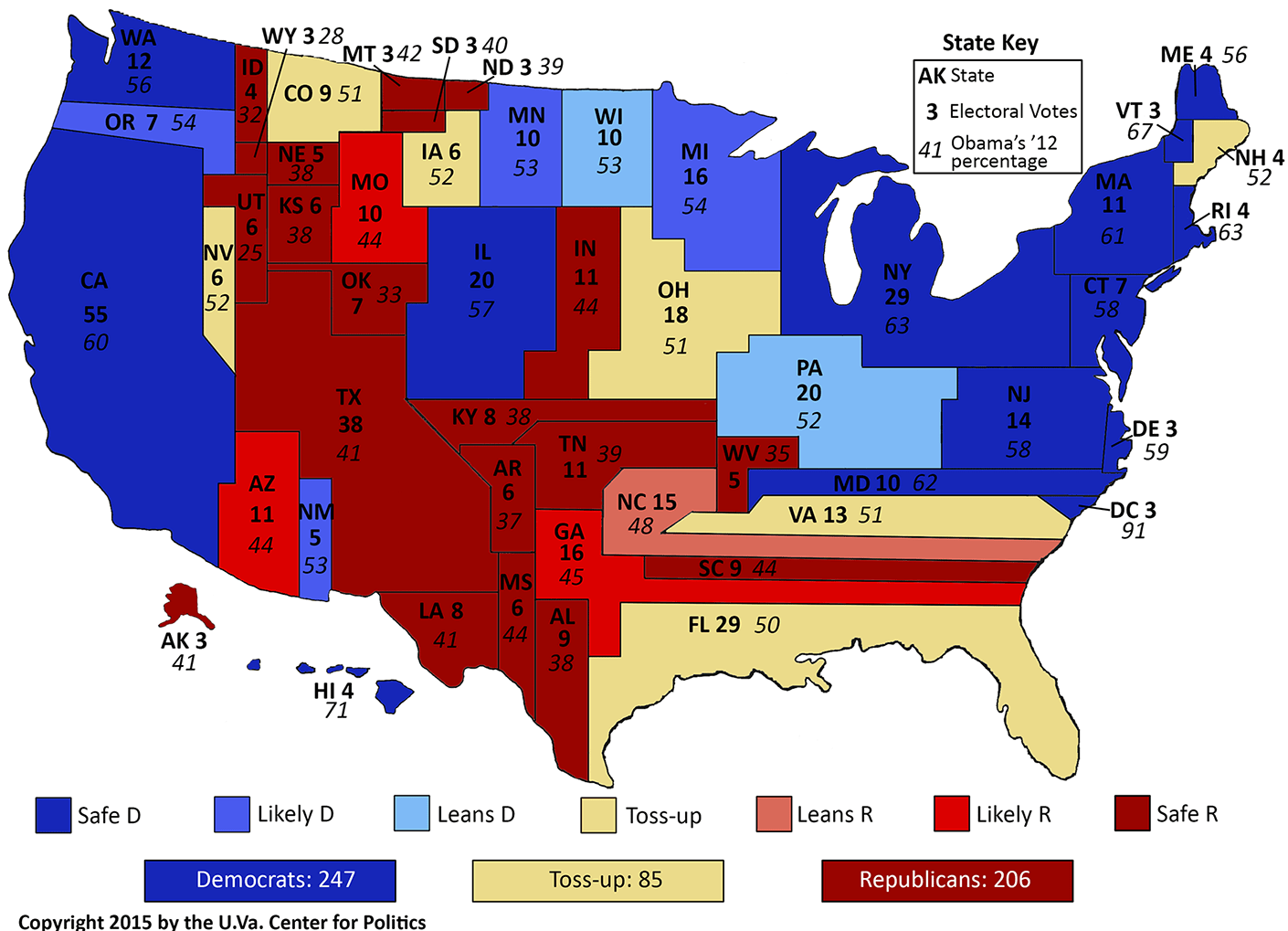 Mapping The Crystal Ball S House Ratings Sabato S