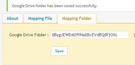 google drive mapping folder